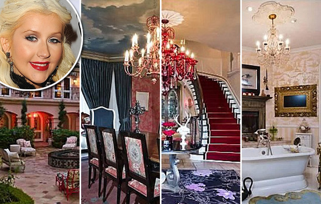 Own Christina Aguilera's $13.5 Mill Pink Palace!