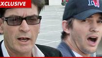 Charlie Sheen APOLOGIZES to Ashton Kutcher -- You Don't Suck, Bro