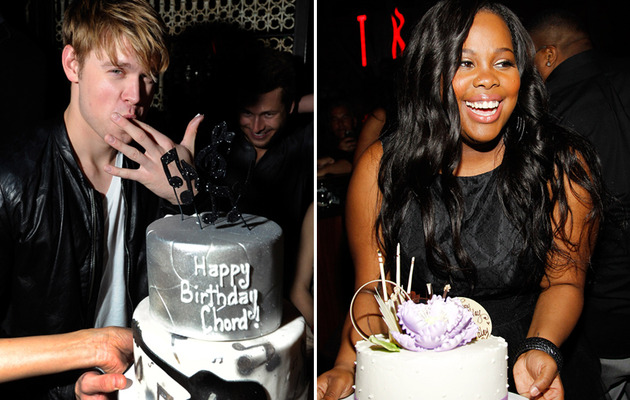 """Glee"" Cast -- Amber and Chord's Dueling Vegas Birthdays"