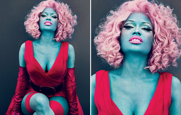 Nicki Minaj Feeling Blue For Vogue