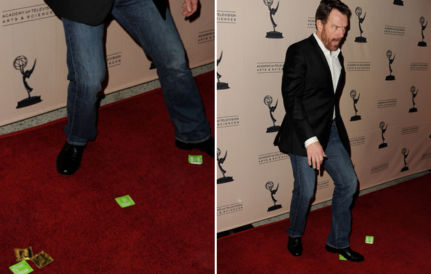 Bryan Cranston Pulls a Zac Efron: Drops Condoms on the Red Carpet!