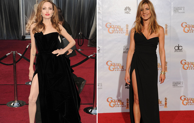 Angelina Jolie Wears Sexy Look Reminiscent of Jennifer Aniston's