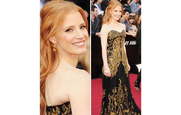 Jessica Chastain Wears $2 Million Worth of Jewels To Academy Awards