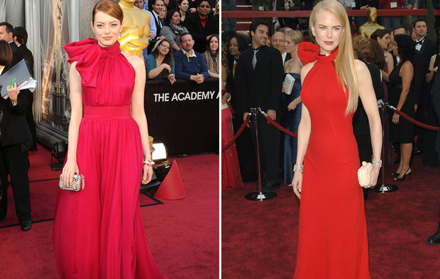 Emma Stone's Oscar Dress -- Nicole Kidman Flashback?