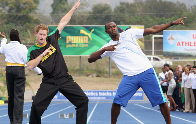 Prince Harry Takes On the World's Fastest Man -- And Wins?