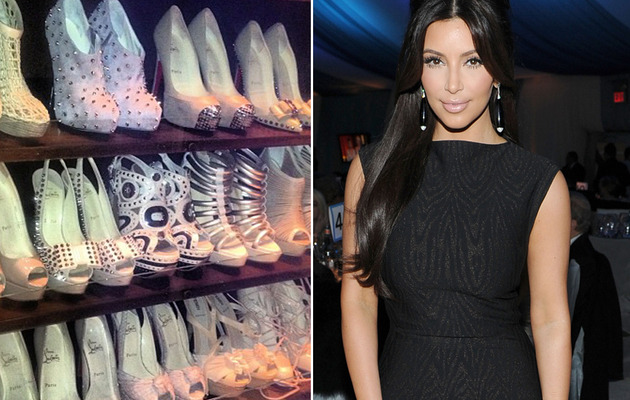 Kim Kardashian Flaunts Massive Shoe Collection on Twitter