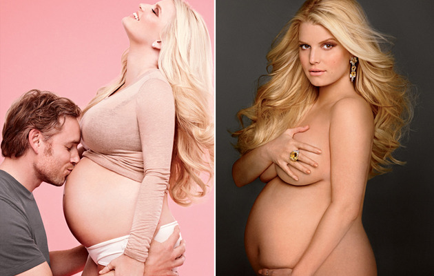 Pregnant Jessica Simpson Goes Naked, Reveals Baby's Sex!