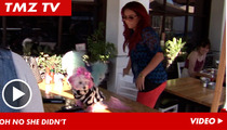 Aubrey O'Day -- Table for Two ... Dogs' Butts