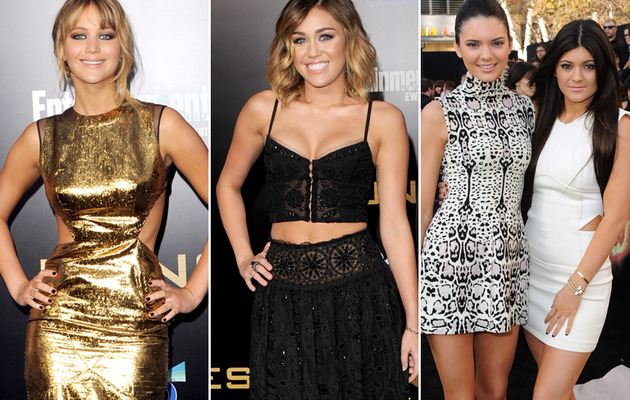 """Hunger Games"" Premiere: Jennifer, Miley & Jenner Sisters Hit Red Carpet!"