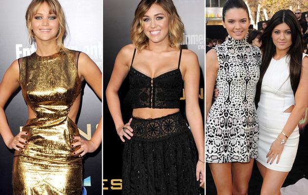 """""""Hunger Games"""" Premiere: Jennifer, Miley & Jenner Sisters Hit Red Carpet!"""