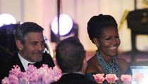 George Clooney Trades Stacy Keibler for First Lady ... For a Night