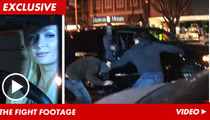 Paris Hilton Escapes MASSIVE Brawl ... Caught on Tape!