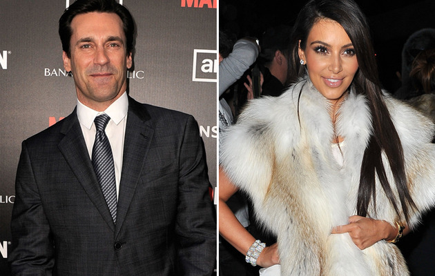 Jon Hamm's Co-Star Joins In on Kardashian Slams