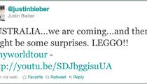 Justin Bieber -- Tour Stop with Chris Brown?
