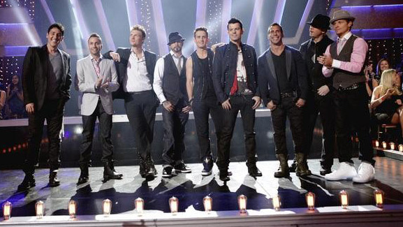 New Kids on the Block & Backstreet Boys Perform on 'Dancing'