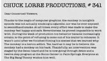 Chuck Lorre -- Blasting Charlie With Monkey Jokes?