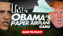 TMZ's Barack Obama Paper Airplanes Game