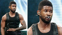 Usher Brings the Guns on Stage