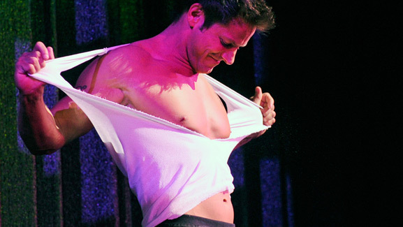 Photos: 98 Degrees Star Jeff Timmons Strips for Chippendales!