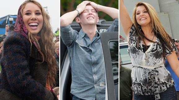 'American Idol' Finalists Visit Hometowns