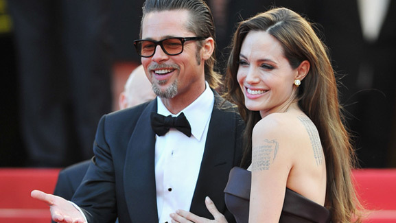 Brad Pitt & Angelina Jolie Hit the Red Carpet Together in Cannes