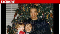 Arnold Posed for Xmas Pic -- With Kid and Mistress