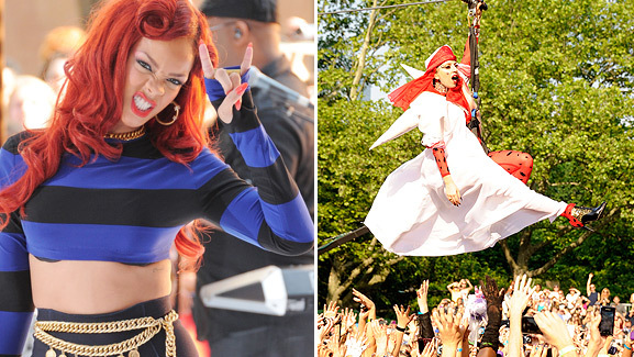 Lady Gaga Ziplines Onto 'Good Morning America' Stage!