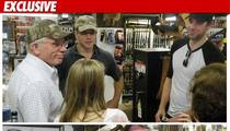 Matt Damon & 'Office' Star -- SURROUNDED by Guns