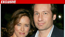 David Duchovny and Tea Leoni -- Separated