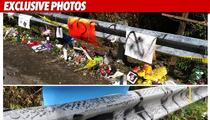 Ryan Dunn's Crash Site VANDALIZED -- 'Ritch Pr*ck'