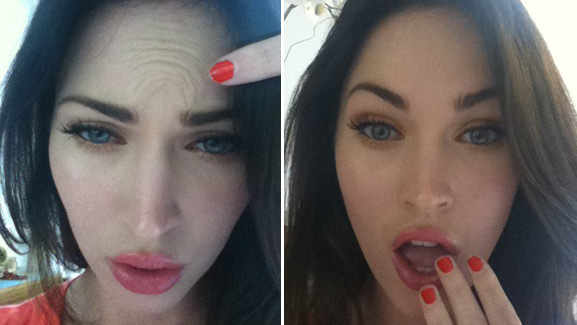 Megan Fox Tries to Prove She Doesn't Use Botox