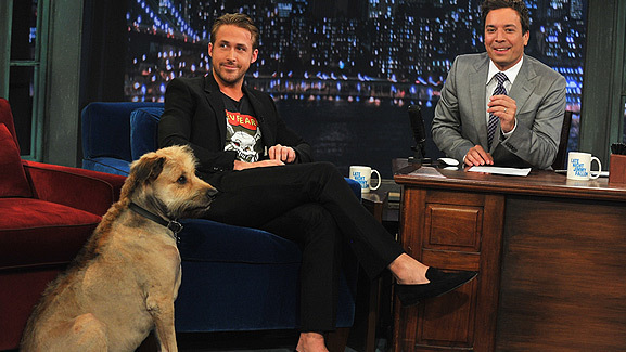 Video: Ryan Gosling Brings His Dog to Late Night TV