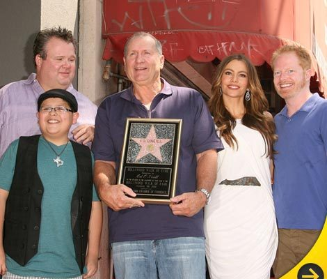 Ed O'Neill Receives Star -- Surrounded By His Wives!