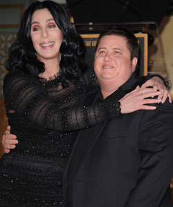 Cher Defends Son Chaz Against 'Haterz'