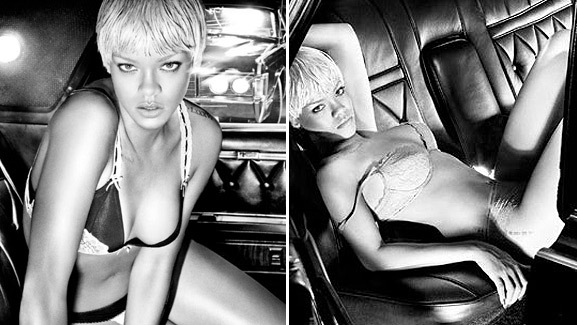 Rihanna Strips Down for Armani Underwear
