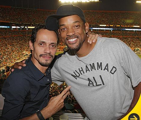Marc Anthony Parties with Will Smith for Birthday