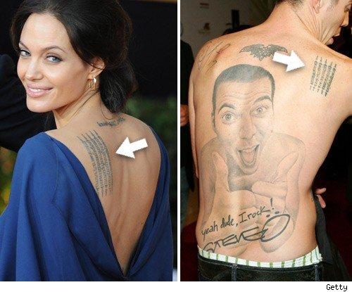 Angelina has jackass tendencies for Steve o tattoo removal