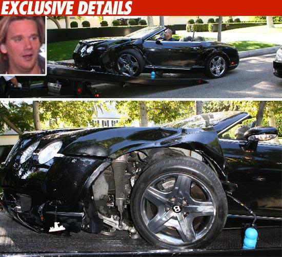 Bentley Gtc Convertible He He He: Sean Stewart Wrecks $200,000 Bentley