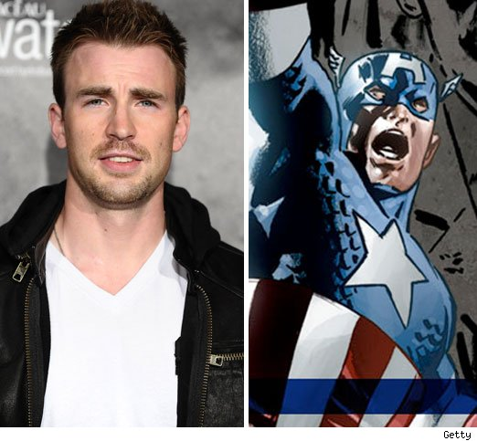 Chris Evans and Captain America