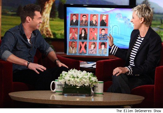 RYan Seacrest & Ellen DeGeneres