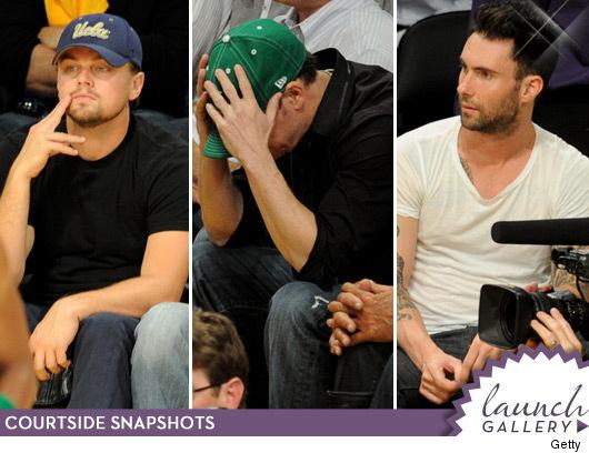 Leonardo DiCaprio, Jack Nicholson and Adam Levine
