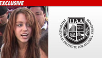 Miley Cyrus -- Under Fire for Beer Consumption