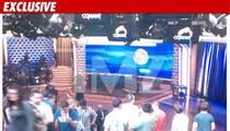 Conan O'Brien's New Set -- Mooning the Crowd