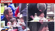 Mel Gibson and Baby Lucia -- Church Playdate