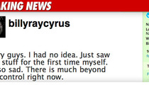 Billy Ray Cyrus on Miley's Bong Hit: 'I'm So Sad'