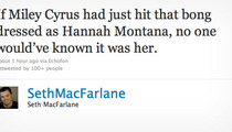 Seth MacFarlane Rips Miley Over Bong Video