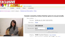 Alleged Ashton Mistress Puts Alleged Sweater on eBay