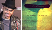 Chris Brown Tweets Domestic Violence Diploma