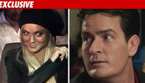 Lindsay Lohan -- 'Worried' About Charlie Sheen