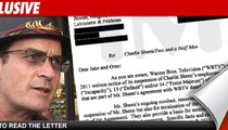 Charlie Sheen -- Read the Letter That Fired Him